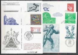 270 France Entier Postal Stationery LOT 6 ENTIERS - Verzamelingen En Reeksen: PAP
