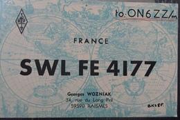 France Carte QSL Radio Amateur Sca R/V - Radio