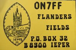 Belgique, Ieper Carte QSL Radio Amateur Sca R/V - Radio