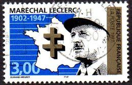 Oblitération Cachet à Date Sur Timbre De France N° 3126 - Personnage - Militaire - Général Leclerc Et Croix De Lorraine - France