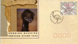 L'Autruche D'Australie (l'EMU) Timbre ATM Sur FDC Ringwood.Victoria 1992 - Autruches