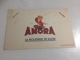 Buvard Ancien AMORA MOUTARDE DE DIJON - Moutardes