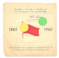 Parti Socialiste Belge 1885/1960 - 75 E Anniversaire Pochette ( SANS DISQUE)  éditée à Cette Occasion - Politique (b243) - Objets Dérivés