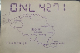 Belgique, De Panne Carte QSL Radio Amateur Sca R/V - Radio