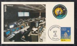 "A 41 ) USA Germany Klasse Raumfahrt Space Karte STS 41 "" Kontrollzentrum "" 1990 - FDC & Commemoratives"