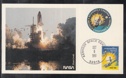 "A 41 ) USA Germany Klasse Raumfahrt Space Karte STS 41 "" Start Der Rakete"" 1990 - FDC & Commemoratives"