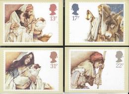 INGHILTERRA - CHRISTMAS 1984 - 5 CARTOLINE - EDIZ. THE HOUSE OF QUESTA - NUOVE - Francobolli (rappresentazioni)