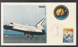 "A 41 ) USA Germany Klasse Raumfahrt Space Karte STS 41 "" Landung Des Shuttels"" 1990 - FDC & Commemoratives"