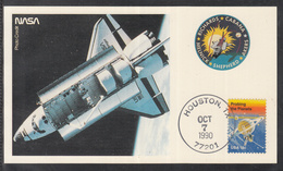 "A 41 ) USA Germany Klasse Raumfahrt Space Karte STS 41 "" Ansicht Des Shuttels"" 1990 - FDC & Commemoratives"