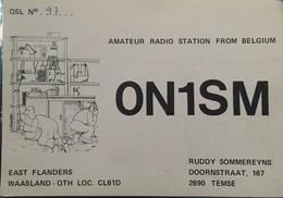Belgique,  Temse Carte QSL Radio Amateur Sca R/V - Radio