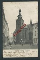 BINCHE. L'Eglise Paroissiale. Animée. Voyagée En 1903. 2 Scans. - Binche