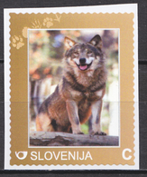 SLOVENIA SLOWENIEN 2016 WILD ANIMALS WOLF LUPO ** PERSONALIZED STAMP ** MNH - Stamps