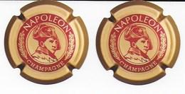 Napoleon Et Le Champagne : Deux Sous Verres - Plaques En Carton