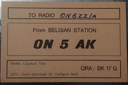 Belgique, Cullegem Carte QSL Radio Amateur Sca R/V - Radio