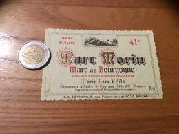 Etiquette (oiseau) «Marc De Bourgogne - Marc Morin - Nuits-St-Georges (21)» - Altri