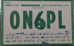 Belgique, Liège  Carte QSL Radio Amateur Sca R/V - Radio