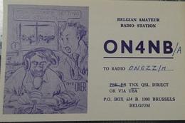 Belgique, Bruxelles Carte QSL Radio Amateur Sca R/V - Radio