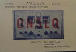 Belgique, Hooglede Carte QSL Radio Amateur Sca R/V - Radio