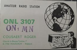 Belgique, Mouscron Carte QSL Radio Amateur Sca R/V - Radio