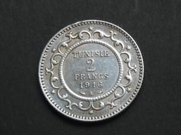 Très Beau 2 Francs 1916 A -  Argent - TUNISIE-    **** EN ACHAT IMMEDIAT **** - Tunisie