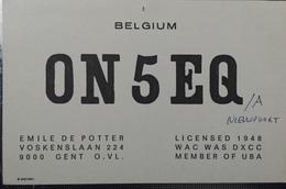 Belgique, Gent  Carte QSL Radio Amateur Sca R/V - Radio