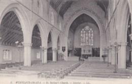 WESTGATE ON SEA . ST SAVIOURS CHURCH INTERIOR  . LL 5. - England