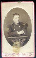 Photo Circa 1900 CDV Originale Militaire Officier Du 129 ème épaulettes Photographe Poulain Du Hâvre Photographie CDV18B - Alte (vor 1900)
