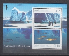 Australia 1990 Antarctica / Joint Issue With USSR M/s ** Mnh (41540) - Ongebruikt