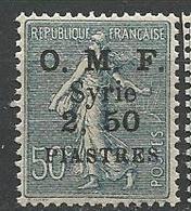 SYRIE  N° 87 2ème Tirage 2 Et 5 Espacé NEUF** LUXE SANS CHARNIERE / MNH - Syria (1919-1945)