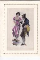 Carte Avec Ruban Tissé-Spécialité De Saint-Etienne-42( Mention Sur L'étiquette Sombre) Format 10,5x14 Cm - Fantasie