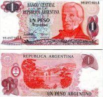 ARGENTINA 1 PESO 1983-84 FDS UNC SAN MARTIN - Argentina