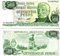 ARGENTINA 500 PESOS 1977-82 FDS UNC SAN MARTIN - Argentina