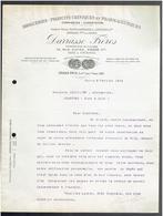FACTURE 1904 DARRASSE FRERES PHARMACIENS 13 RUE PAVEE A PARIS 4 DROGUERIE USINE A VINCENNES - France