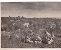 PAUSE PENDANT LES MANOEUVRES   COETQUIDAN 1938  PHOTO ORIGINALE - Army & War