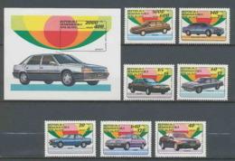 Madagascar Malagasy 006 N°1137/1143 + Bloc 81 Voiture (Cars Car Voitures) Modernes MNH ** - Voitures