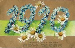 26 - Année Date Millesime - 1910 - Fleurs Myosotis Marguerite - New Year