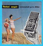 ROLLEI MAGIC ( Rolleiflex ) Original Vintage Sales Brochure * Camera Broschüre Franke And Heidecke Germany Deutschland - Photography