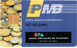 PHONECARDS-PORTUGAL- PORTE MONNAIE- MULTIBANCO  CHIP--- BANK---BPA ( BANCO PORTUGUES DO ATLANTICO) - Portugal