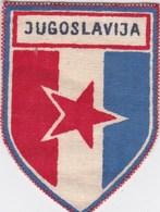 Ecusson Tissu - Yougoslavie - Jugoslavija - Drapeau - Blason - Armoiries - Héraldique - Ecussons Tissu