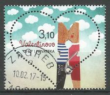 HR 2017-1263 LOVE SAN VALENTINO, HRVATSKA CROATIA, 1 X 1v, Used - Kroatië