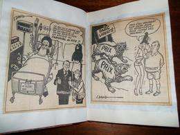 LOT DE CARICATURES Découpées Et Mise En Livres Relié - Vieux Papiers