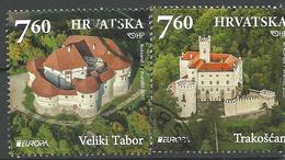 HR 2017-1282-3 EUROPA CEPT, HRVATSKA CROATIA, 1 X 2v, Used - Croazia