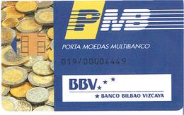PHONECARDS-PORTUGAL- PORTE MONNAIE- MULTIBANCO  CHIP--- BANK---BBV--(-BANCO BILBAU VIZCAIA) - Portugal