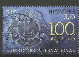 HR 2017-1286 100A°LIONS CLUB INTERNATIONAL, HRVATSKA CROATIA, 1 X 1v, Used - Croazia