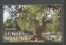 HR 2017-1289 EUROMED FLORA, HRVATSKA CROATIA, 1 X 1v, Used - Kroatien