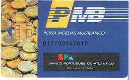 PHONECARDS-PORTUGAL- PORTE MONNAIE- MULTIBANCO  CHIP--- BANK---BANCO PORTUGUES DO ATLANTICO  ( DIFFERENT ) - Portugal
