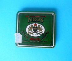 NEOS ... Nice Old Brasil Cigarettes Tin Box * Cigarette Zigaretten Sigarette Cigarrillos Cigarros - Contenitori Di Tabacco (vuoti)