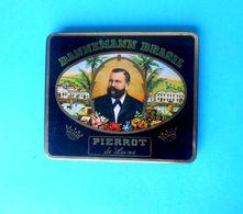 DANNEMANN BRASIL - PIERROT De Luxe ... Cigars Tin Box * Cigar Cigarette Zigaretten Cigarros Tobacco Tabak - Boites à Tabac Vides