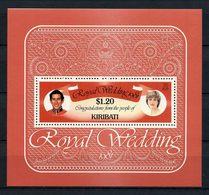 KIRIBATI 1981  N° 4 ** Neuf MNH Superbe C 5 € Mariage Princier Charles Lady Diana Royal Wedding - Kiribati (1979-...)