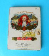 SCHIMMELPENNINCK .. Beautifull Vintage Tin Box * LARGER * Cigarettes Cigarette Zigaretten Sigarette Cigarrillos Cigarros - Boites à Tabac Vides